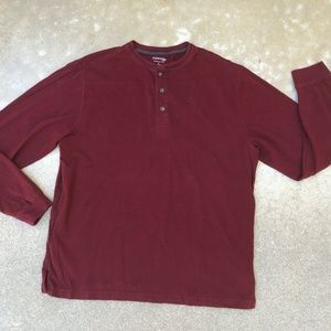 St. John's Bay Heritage Sueded Jersey Henley Shirt